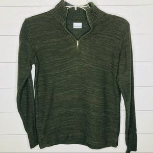 Columbia Quarter Zip Pullover Sweater Small